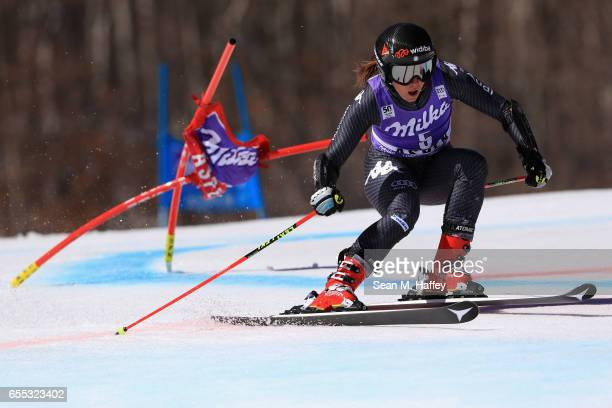 Sofia Goggia of Italy competes in the ladies Giant Slalom during the 2017 Audi FIS Ski World Cup Finals at Aspen Mountain on March 19 2017 in Aspen...