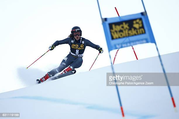 Sofia Goggia of Italy in action during the Audi FIS Alpine Ski World Cup Women's Giant Slalom on January 07 2017 in Maribor Slovenia