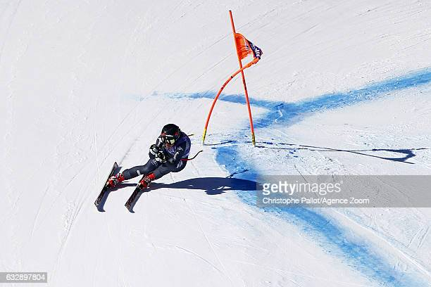 Sofia Goggia of Italy in action during the Audi FIS Alpine Ski World Cup Women's Downhill on January 28 2017 in Cortina d'Ampezzo Italy