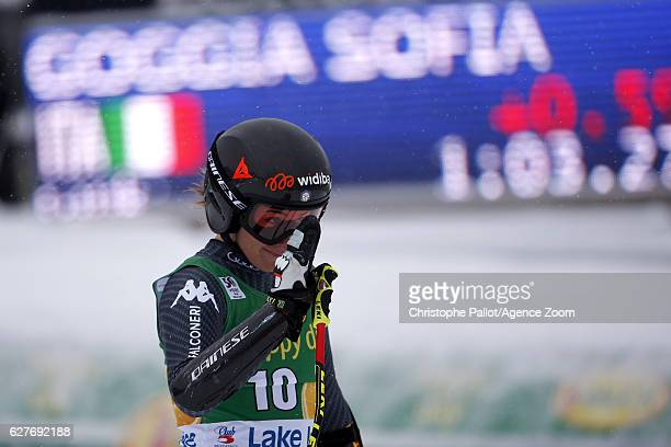 Sofia Goggia of Italy takes 3rd place during the Audi FIS Alpine Ski World Cup Women's SuperG on December 4 2016 in Lake Louise Canada