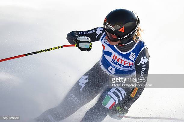 Sofia Goggia of Italy takes 3rd place during the Audi FIS Alpine Ski World Cup Women's Downhill on December 17 2016 in Vald'Isere France