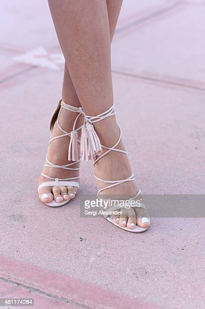 Sofia Grau is seen wearing the shoes by Asos during Miami Swim Week outside Funkshion on July 17 2015 in Miami Beach Florida