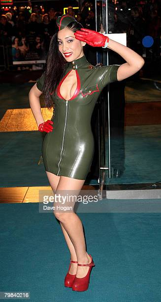 Sofia Hayat arrives at the Royal Film Premiere of 'The Other Boleyn Girl' at the Odeon Leicester Square on February 19 2008 in London England All...
