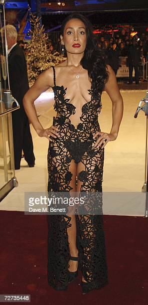 Sofia Hayat arrives at the UK Premiere of The Holiday at Odeon Leicester Square December 5 2006 in London England