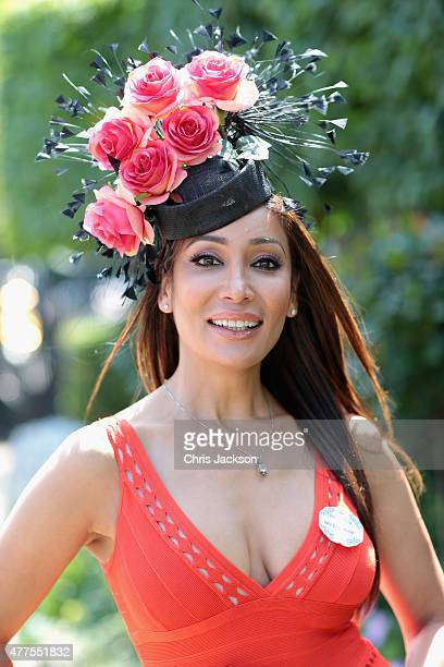 Sofia Hayat attends Ladies Day on day 3 of Royal Ascot at Ascot Racecourse on June 18 2015 in Ascot England