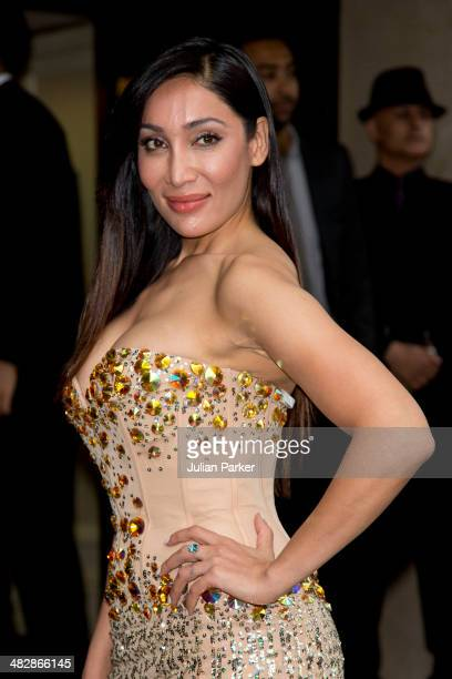 Sofia Hayat attends The Asian Awards at The Grosvenor House Hotel on April 4 2014 in London England