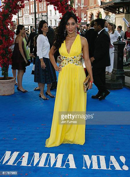 Sofia Hayat attends the Mamma Mia The Movie world premiere held at the Odeon Leicester Square on June 30 2008 in London England