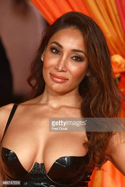 Sofia Hayat attends The Royal Film Performance 'The Second Best Exotic Marigold Hotel' World Premiere at Odeon Leicester Square on February 17 2015...