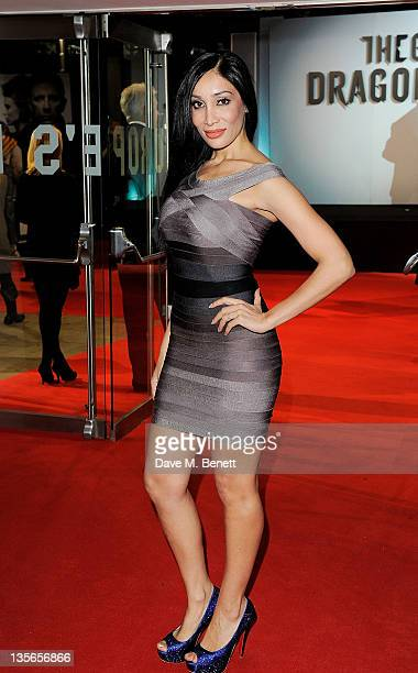 Sofia Hayat attends the World Premiere of 'The Girl With The Dragon Tattoo' at Odeon Leicester Square on December 12 2011 in London England