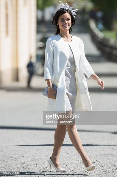 Sofia Hellqvist attending the Royal Christening for Princess Leonore at Drottningholm Palace Chapel on June 8 2014 in Stockholm Sweden