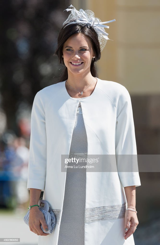 Sofia Hellqvist attending the Royal Christening for Princess Leonore at Drottningholm Palace Chapel on June 8, 2014 in Stockholm, Sweden.