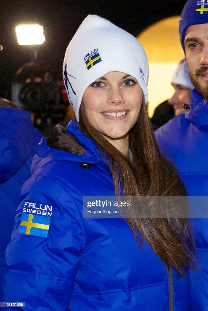 Sofia Hellqvist attends the opening of the FIS Nordic World Ski Championships on February 19, 2015 in Falun, Sweden.