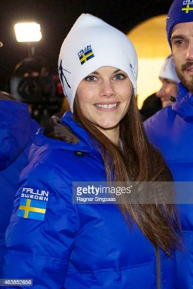 Sofia Hellqvist attends the opening of the FIS Nordic World Ski Championships on February 19 2015 in Falun Sweden