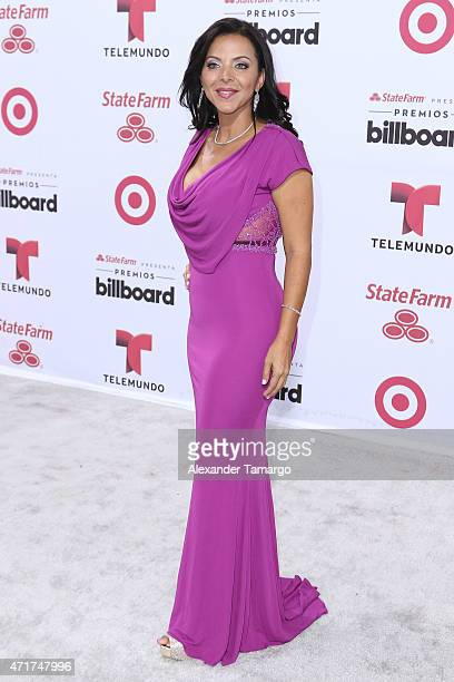Sofia Lachapelle arrives at 2015 Billboard Latin Music Awards presented bu State Farm on Telemundo at Bank United Center on April 30 2015 in Miami...