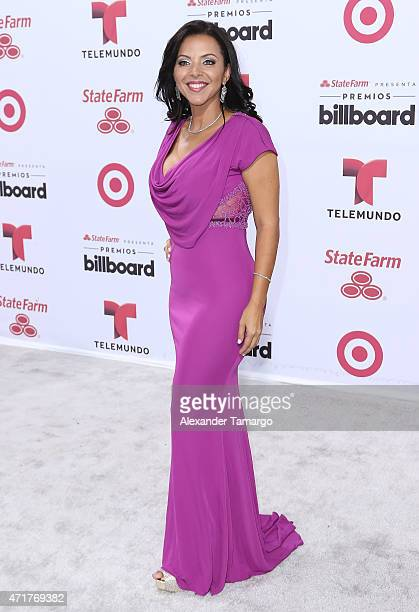 Sofia Lachapelle arrives at 2015 Billboard Latin Music Awards presented by State Farm on Telemundo at Bank United Center on April 30 2015 in Miami...