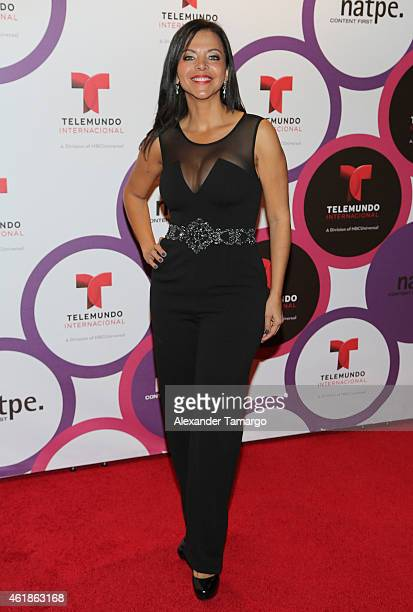 Sofia Lachapelle arrives at Telemundo International Welcome Party during NATPE 2015 at Adrienne Arsht Center on January 20 2015 in Miami Florida