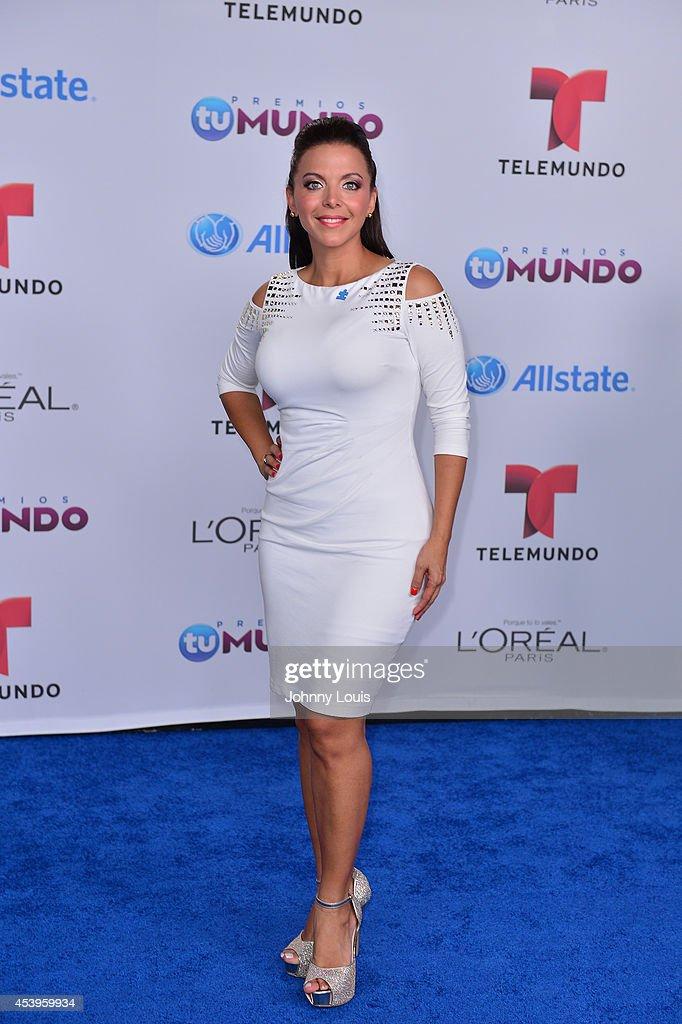 Sofia Lachapelle arrives at Telemundo's Premios Tu Mundo Awards 2014 at American Airlines Arena on August 21, 2014 in Miami, Florida.