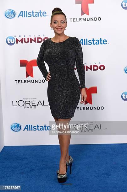 Sofia Lachapelle arrives for Telemundo's Premios Tu Mundo Awards at American Airlines Arena on August 15 2013 in Miami Florida