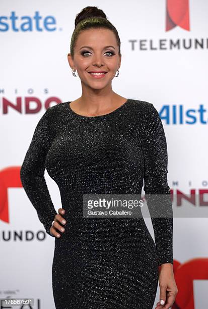 Sofia Lachapelle arrives for Telemundo's Premios Tu Mundo Awards at American Airlines Arena on August 15 2013 in Miami Florida