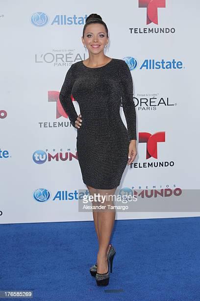 Sofia Lachapelle attends Telemundo's Premios Tu Mundo Awards at American Airlines Arena on August 15 2013 in Miami Florida