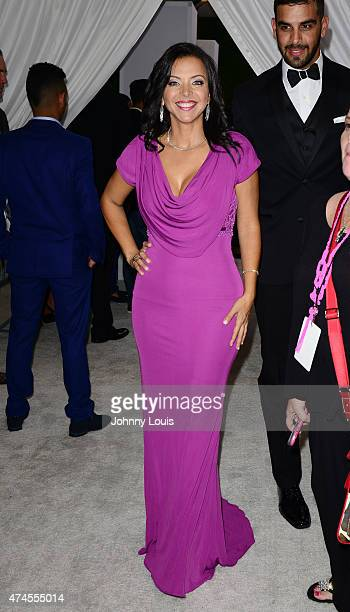 Sofia Lachapelle backstage at 2015 Billboard Latin Music Awards presented by State Farm on Telemundo at Bank United Center on April 30 2015 in Miami...