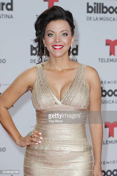 Sofia Lachapelle is seen arriving to the Billboard Latin Music Awards at the Bank United Center on April 28 2016 in Coral Gables Florida