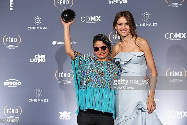 Sofia Lantan and Goya Toledo attend the Premio Iberoamericano de Cine Fenix 2015 at Teatro de La Ciudad on November 25 2015 in Mexico City Mexico