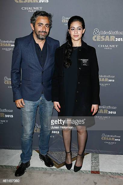 Sofia Lesaffre Eric Toledano attend 'Cesar Revelations 2015' Photocall And Cocktail Dinner at Hotel Meurice on January 12 2015 in Paris France