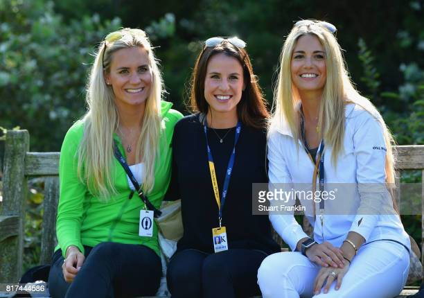 Sofia Lundstedt Angela Akins and Gala Ortin pose during a practice round prior to the 146th Open Championship at Royal Birkdale on July 18 2017 in...