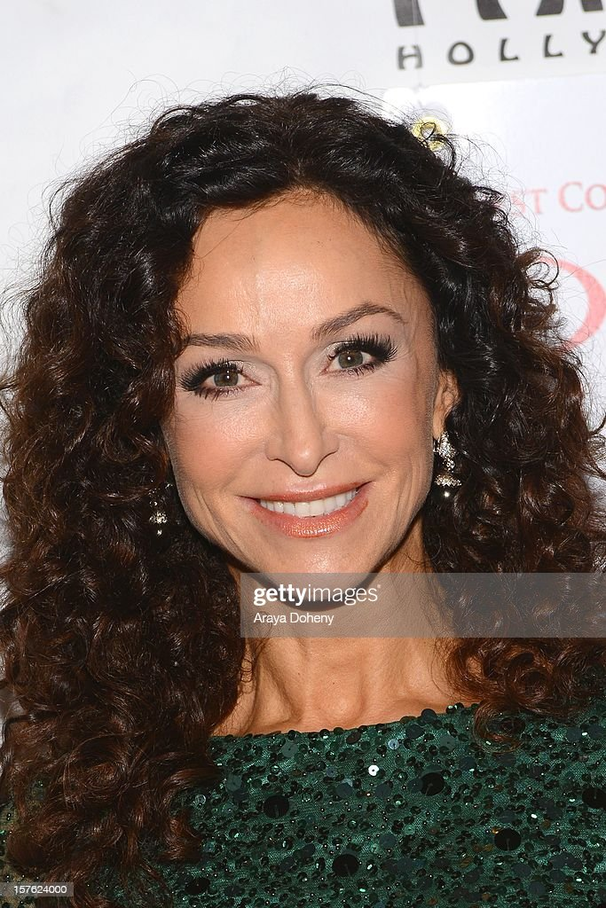 Sofia Milos arrives at the 'Donny & Marie Christmas In Los Angeles' - Opening Night Performance at the Pantages Theatre on December 4, 2012 in Hollywood, California.