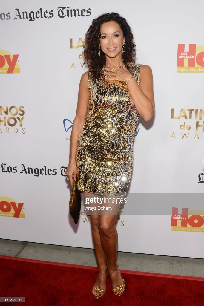 <a gi-track='captionPersonalityLinkClicked' href=/galleries/search?phrase=Sofia+Milos&family=editorial&specificpeople=204487 ng-click='$event.stopPropagation()'>Sofia Milos</a> attends the 2013 Latinos de Hoy Awards at Los Angeles Times' Chandler Auditorium on October 12, 2013 in Los Angeles, California.