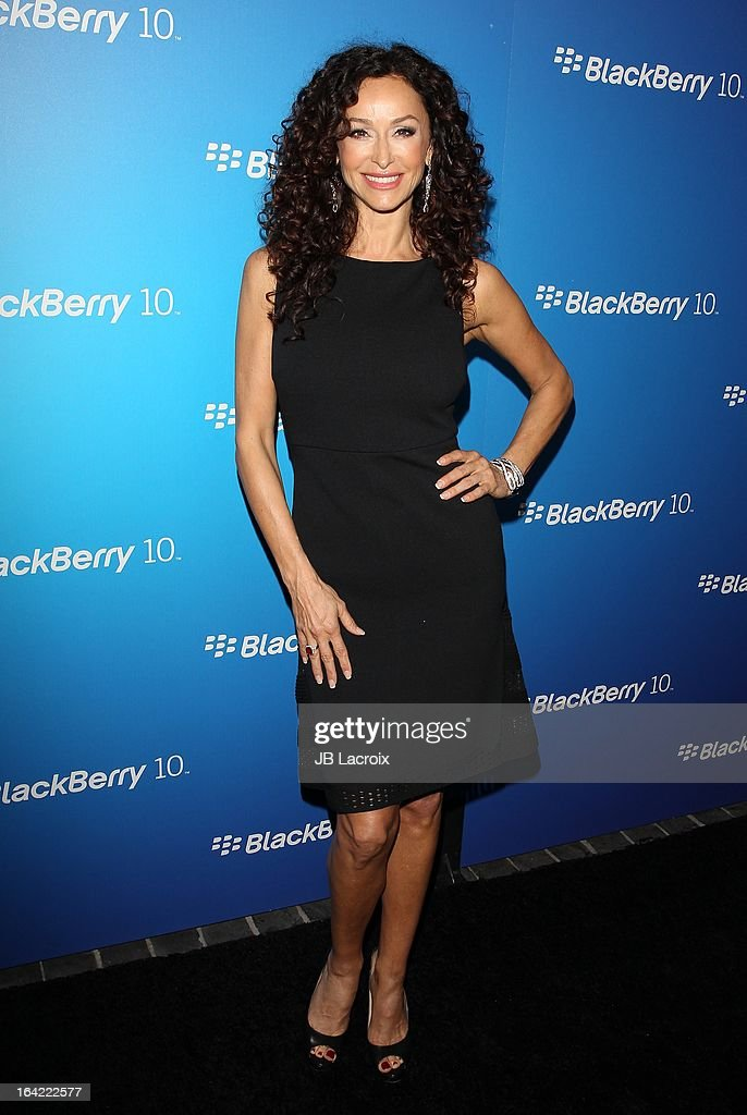 Sofia Milos attends the BlackBerry Z10 Smartphone launch party held at at Cecconi's Restaurant on March 20, 2013 in Los Angeles, California.