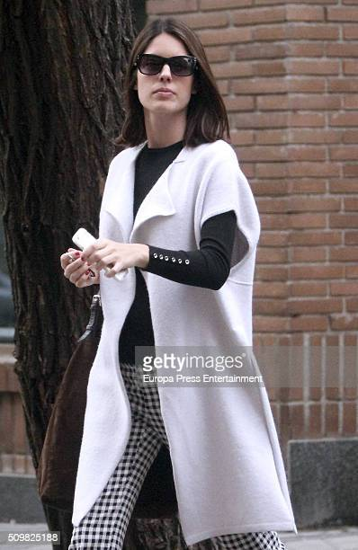 Sofia Palazuelo is seen on January 20 2016 in Madrid Spain