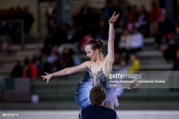 Sofia Polishchuk and Alexander Vakhnov of Russia compete in the Junior Ice Dance Free Dance during day two of the ISU Junior Grand Prix of Figure...