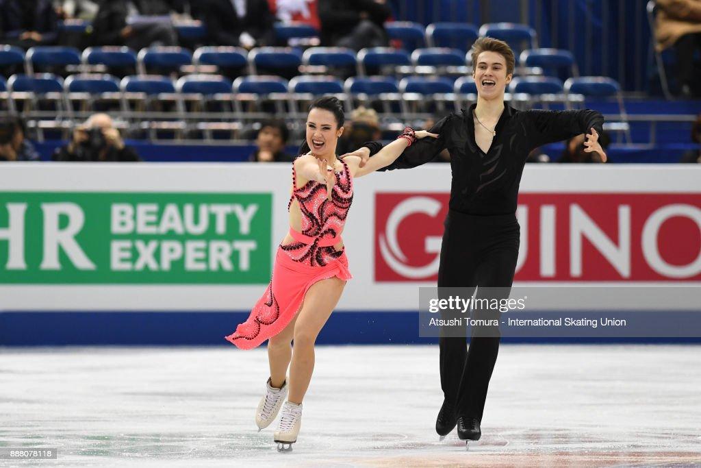 Софья Полищук-Александр Вахнов - Страница 5 Sofia-polishchuk-and-alexander-vakhnov-of-russia-compete-in-the-ice-picture-id888078118