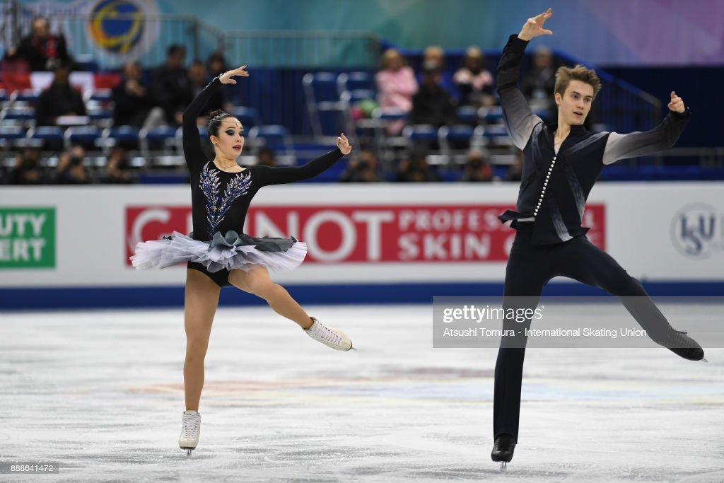 Софья Полищук-Александр Вахнов - Страница 5 Sofia-polishchuk-and-alexander-vakhnov-of-russia-compete-in-the-ice-picture-id888641472