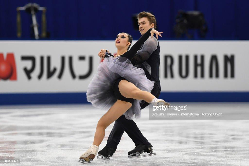 Софья Полищук-Александр Вахнов - Страница 5 Sofia-polishchuk-and-alexander-vakhnov-of-russia-compete-in-the-ice-picture-id888641474