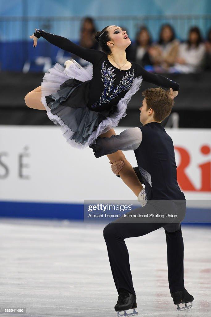 Софья Полищук-Александр Вахнов - Страница 5 Sofia-polishchuk-and-alexander-vakhnov-of-russia-compete-in-the-ice-picture-id888641486