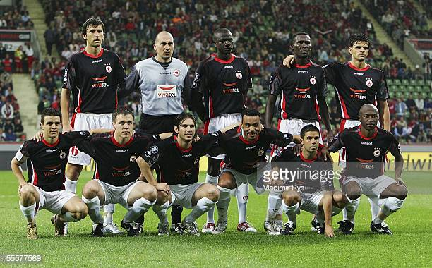 Sofia pose for a teamgroup before the UEFA Cup match between Bayer Leverkusen and CSKA Sofia at the BayArena on September 15 2005 in Leverkusen...