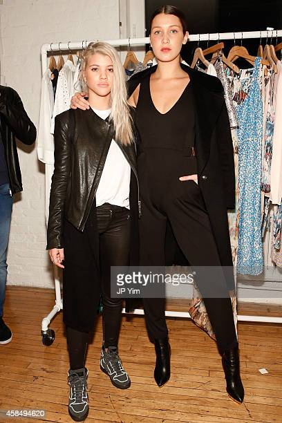 Sofia Richie and Bella Hadid attend the French Connection Spring/Summer 2015 Collection Preview Party at Michelson Studio on November 5 2014 in New...