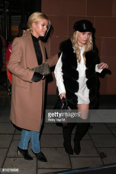 Sofia Richie and Lottie Moss seen on a night out leaving C restaurant in Mayfair on November 14 2017 in London England