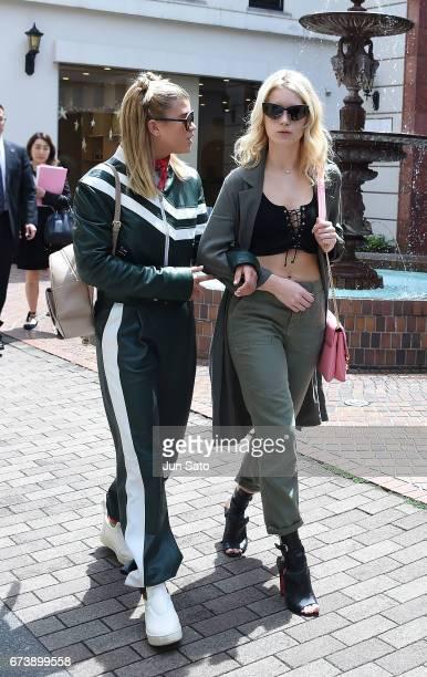 Sofia Richie and Lottie Moss sighting Harajuku street on April 27 2017 in Tokyo Japan