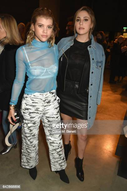 Sofia Richie and Sophia Stallone attend Topshop's London Fashion Week show at Tate Modern on February 19 2017 in London England