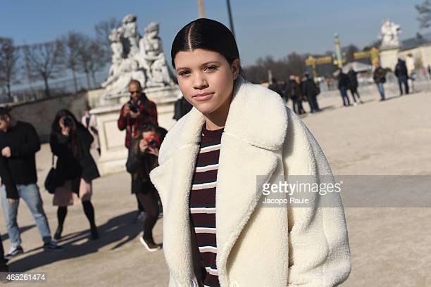 Sofia Richie arrives at Carven Fashion Show during Paris Fashion Week Fall Winter 2015/2016 on March 5 2015 in Paris France