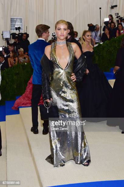 Sofia Richie arrives at 'Rei Kawakubo/Comme des Garcons Art Of The InBetween' Costume Institute Gala at The Metropolitan Museum on May 1 2017 in New...