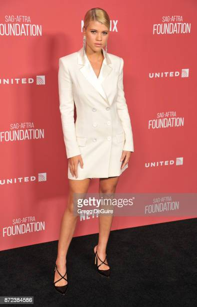 Sofia Richie arrives at the SAGAFTRA Foundation Patron of the Artists Awards 2017 on November 9 2017 in Beverly Hills California