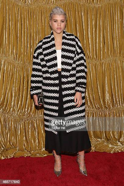 Sofia Richie attends the Alice Olivia fall 2015 fashion presentation at The Prince George Ballroom on February 16 2015 in New York City
