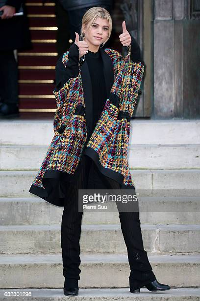 Sofia Richie attends the Balmain Menswear Fall/Winter 20172018 show as part of Paris Fashion Week on January 21 2017 in Paris France