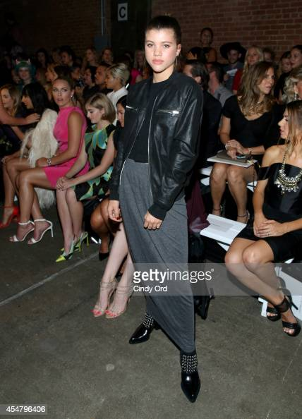 Sofia Richie attends the Christian Siriano fashion show during MercedesBenz Fashion Week Spring 2015 at Eyebeam on September 6 2014 in New York City