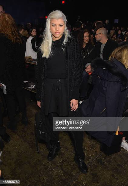 Sofia Richie attends the DKNY fashion show during MercedesBenz Fashion Week Fall 2015 on February 15 2015 in New York City